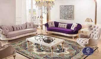 فرش ماشینی طرح پینار سرمه ای توس مشهد