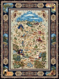 1000 machine carpet, with 3000 density and Parian design in Toos Mashhad