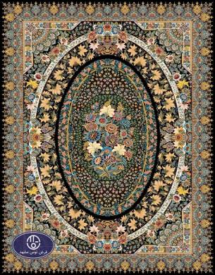 فرش 700 شانه طرح شادرنگ،توس مشهد،سرمه ای
