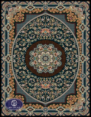 فرش 700 شانه طرح شانلی کد 7003،توس مشهد،سورمه ای