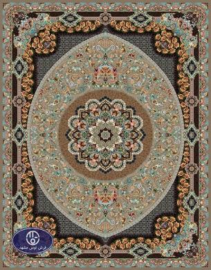 فرش 700 شانه طرح شانلی کد 7003،توس مشهد،شکلاتی