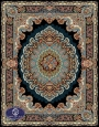 فرش 700 شانه طرح شباهنگ کد 7027،توس مشهد،سورمه ای