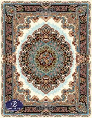 فرش 700 شانه طرح شباهنگ کد 7027،توس مشهد،کرم