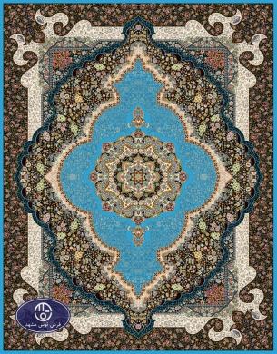 فرش 700 شانه طرح شمشاد کد 7021،توس مشهد،آبی فیروزه ای