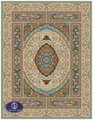 فرش 700 شانه طرح شورانگیز کد 7025،توس مشهد،کرم
