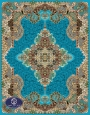 فرش 700 شانه طرح شیفته کد 7009،توس مشهد،آبی فیروزه ای