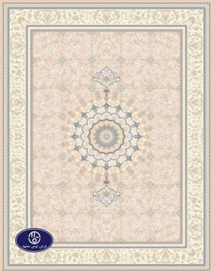 فرش گل برجسته،توس مشهد،شکلاتی 8023