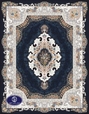 فرش هایبالک،توس مشهد،سرمه ای 8045