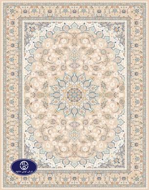 فرش گل برجسته،توس مشهد،شکلاتی 8047