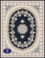 فرش گل برجسته 1000 شانه،توس مشهد،سرمه ای 8050