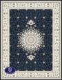 فرش گل برجسته،توس مشهد،سرمه ای 8051