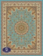 700reeds machine made carpet, Isfahan pattern, turquoise