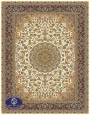 700reeds machine made carpet, Isfahan pattern, cream