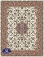 700reeds machine made carpet, Afshar pattern, cream