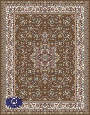 700reeds machine made carpet, Afshar pattern. brown