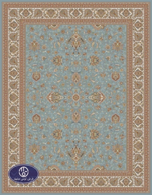 700reeds machine made carpet, Afshan pattern. code:7050. blue