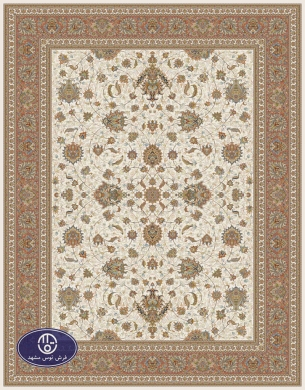 700reeds machine made carpet, Afshan pattern. code:7050. cream