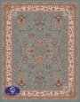 700reeds machine made carpet, Afshan3 pattern. blue