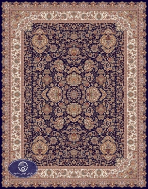 700reeds machine made carpet, Afshan3 pattern. navy blue