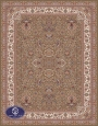 700reeds machine made carpet, Afshan3 pattern. brown