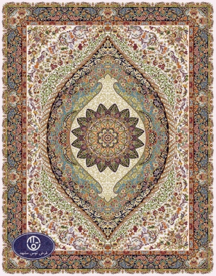 700reeds machine made carpet, Shayan pattern, cream