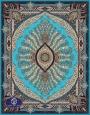 700reeds machine made carpet, Shabnam pattern. turquoise