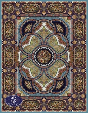 700reeds machine made carpet, Shahriar pattern. turquoise