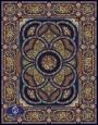 700reeds machine made carpet, Shahriar pattern. navy blue