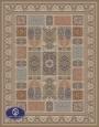 700reeds machine made carpet, Golchin pattern, brown