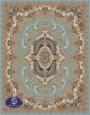 700reeds machine made carpet, Gol Ara pattern, turquoise