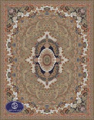 700reeds machine made carpet, Gol Ara pattern, brown