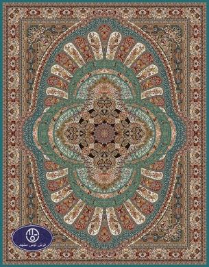 فرش 700 شانه،گل آفرین،توس مشهد،آبی فیروزه ای