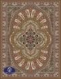 700reeds machine made carpet, Gol Afarin pattern, brown