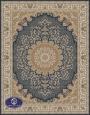 700reeds machine made carpet, Gol Narges pattern. navy blue