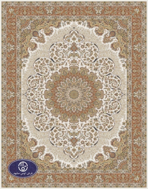 700reeds machine made carpet, Gol Narges pattern. cream