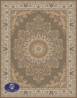 700reeds machine made carpet, Gol Narges pattern. brown