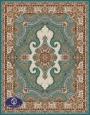 فرش 700 شانه,گل چهره,توس مشهد,آبی فیروزه ای