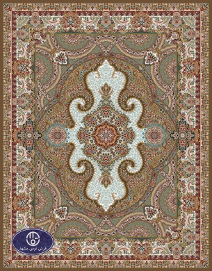 700reeds machine made carpet, Gol Chehre pattern, brown