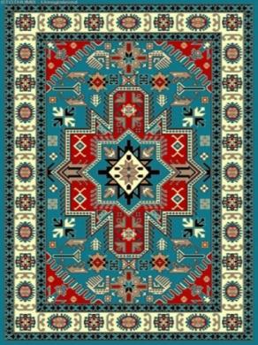 فرش عشایری کد AB078،توس مشهد،آبی فیروز ه ای