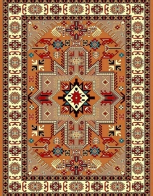 Machine made carpet, tribal pattern, code AB078