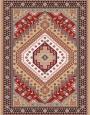 فرش عشایری کد AB079،توس مشهد،شکلاتی