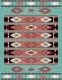 فرش عشایری کد AB080،توس مشهد،آبی فیروزه ای