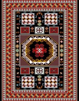 فرش عشایری کد AB081،توس مشهد،سرمه ای
