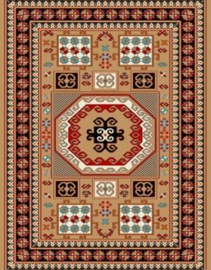 فرش عشایری کد AB081،توس مشهد،شکلاتی