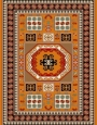 Machine made carpet, tribal pattern, code AB081