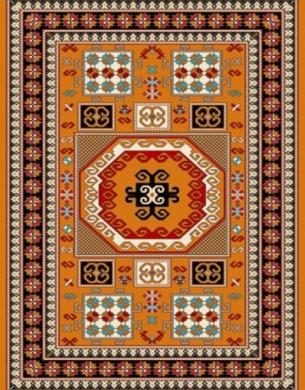 فرش عشایری کد AB081،توس مشهد،طلایی