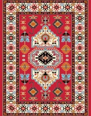 فرش عشایری کد AB084،توس مشهد،لاکی