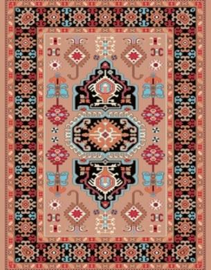 فرش عشایری کد AB084،توس مشهد،گلبهی