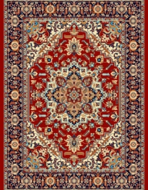 فرش عشایری کد AB085،توس مشهد،لاکی