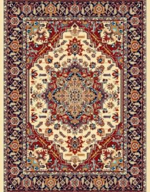 فرش عشایری کد AB085،توس مشهد،کرم